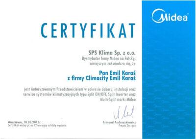 Autoryzowany Przedstawiciel systemów klimatyzacyjnych typu Split on-off, Split Inverter, Multi-Split marki Midea
