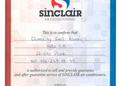 Autoryzowany punkt sprzedaży i serwis gwarancyjny klimatyzatorów Sinclair