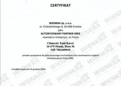 Autoryzowany punkt uruchamiania i serwisowania urządzeń GREE